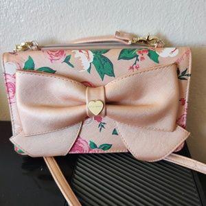Betsey Johnson crossbody clutch wallet